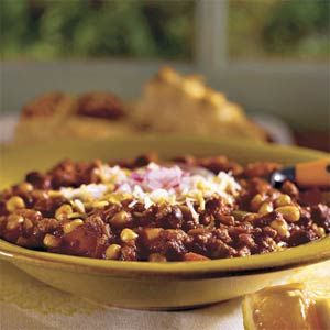 Use your slow-cooker for this easy chili recipe featuring lean ground turkey, black beans and corn.
