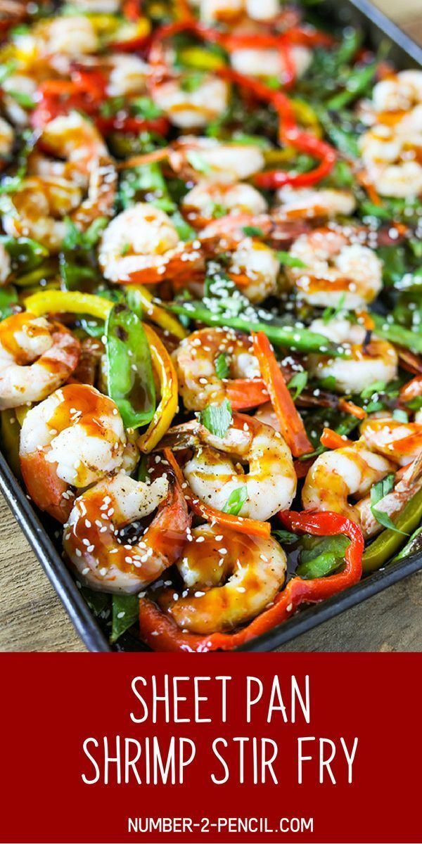 Easy Sheet Pan Shrimp Stir Fry