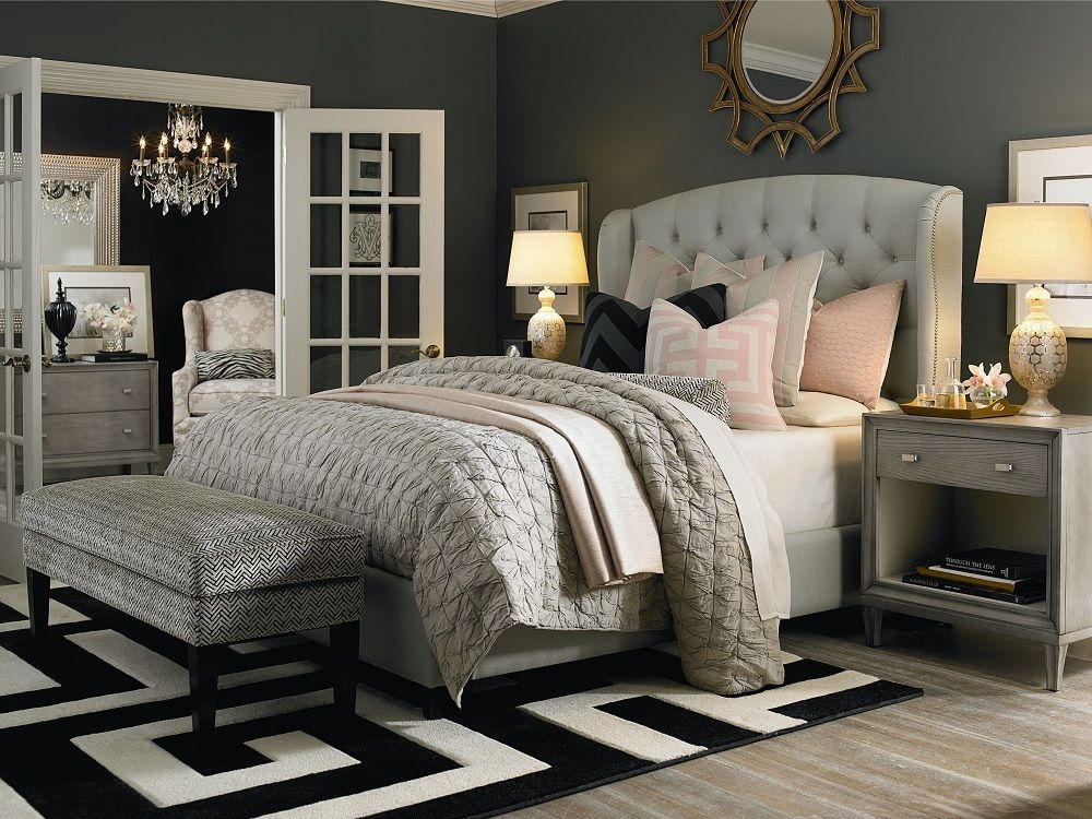 Best So Many Great Design Details In This Serene Gray Bedroom 400 x 300