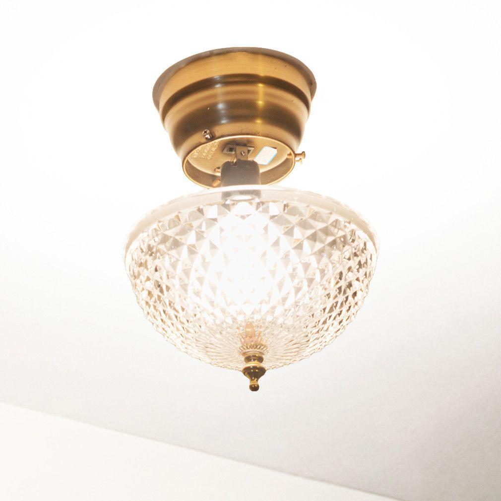 Ceiling Clip-on Light Bulb Shade-Lamp-Dome-Antique-Diamond Cut ...
