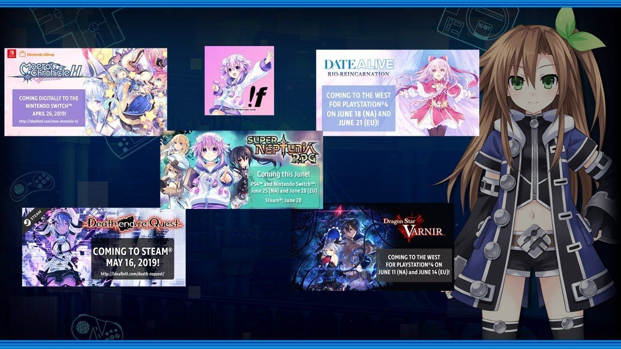 Mmgs Vlog E3 2019 Pre Hype Sp Idea Factory Int Games Release Part 1 Vlogging Com Games Dragon Star