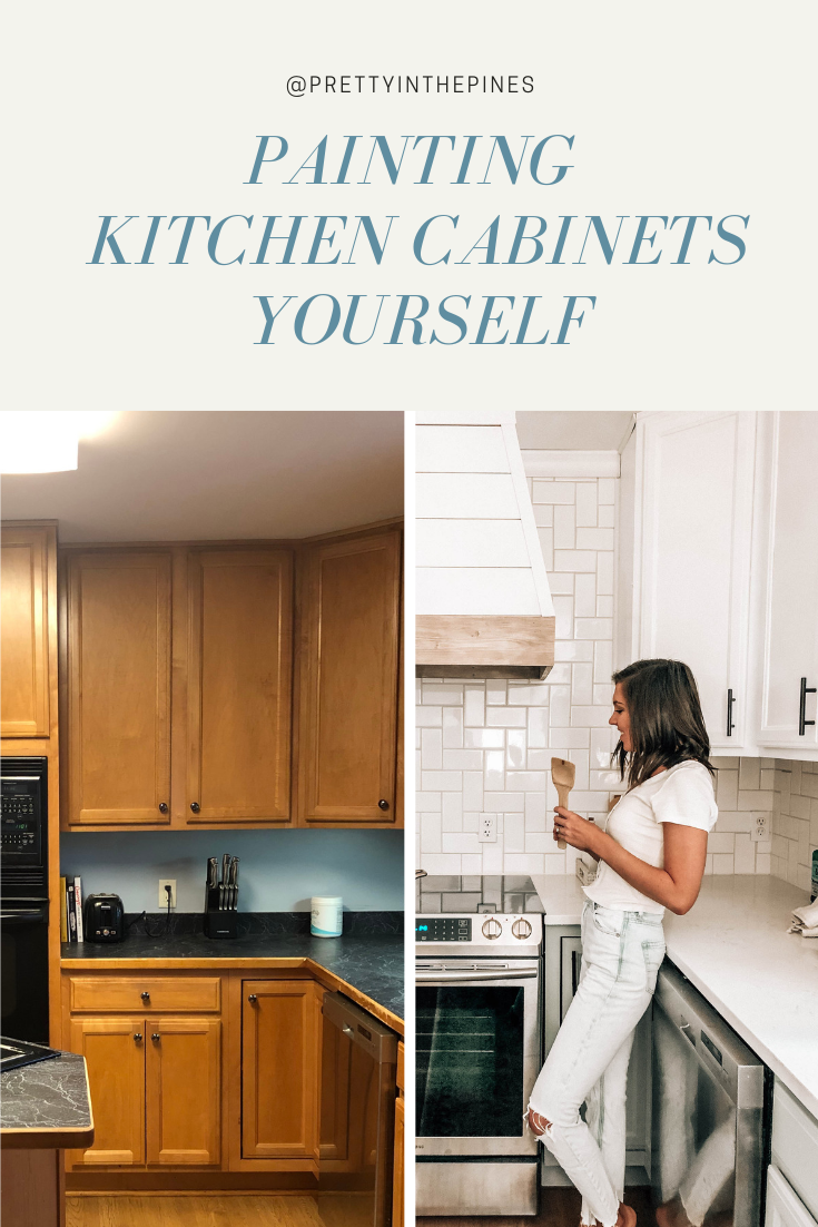 Painting Kitchen Cabinets Yourself Pretty In The Pines New York City Lifestyle Blog Kitchen Cabinets Painting Kitchen Cabinets Kitchen Cabinet Colors