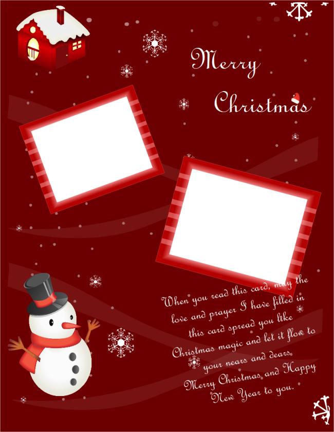 Portrait Christmas Card Christmas Card Template Christmas Cards Free Blank Christmas Cards