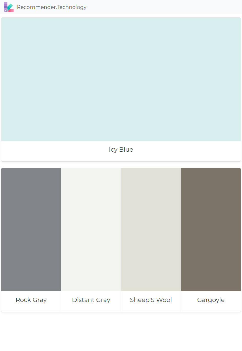 Icy Blue Rock Gray Distant Sheep S Wool Gargoyle Paint Color Palettes