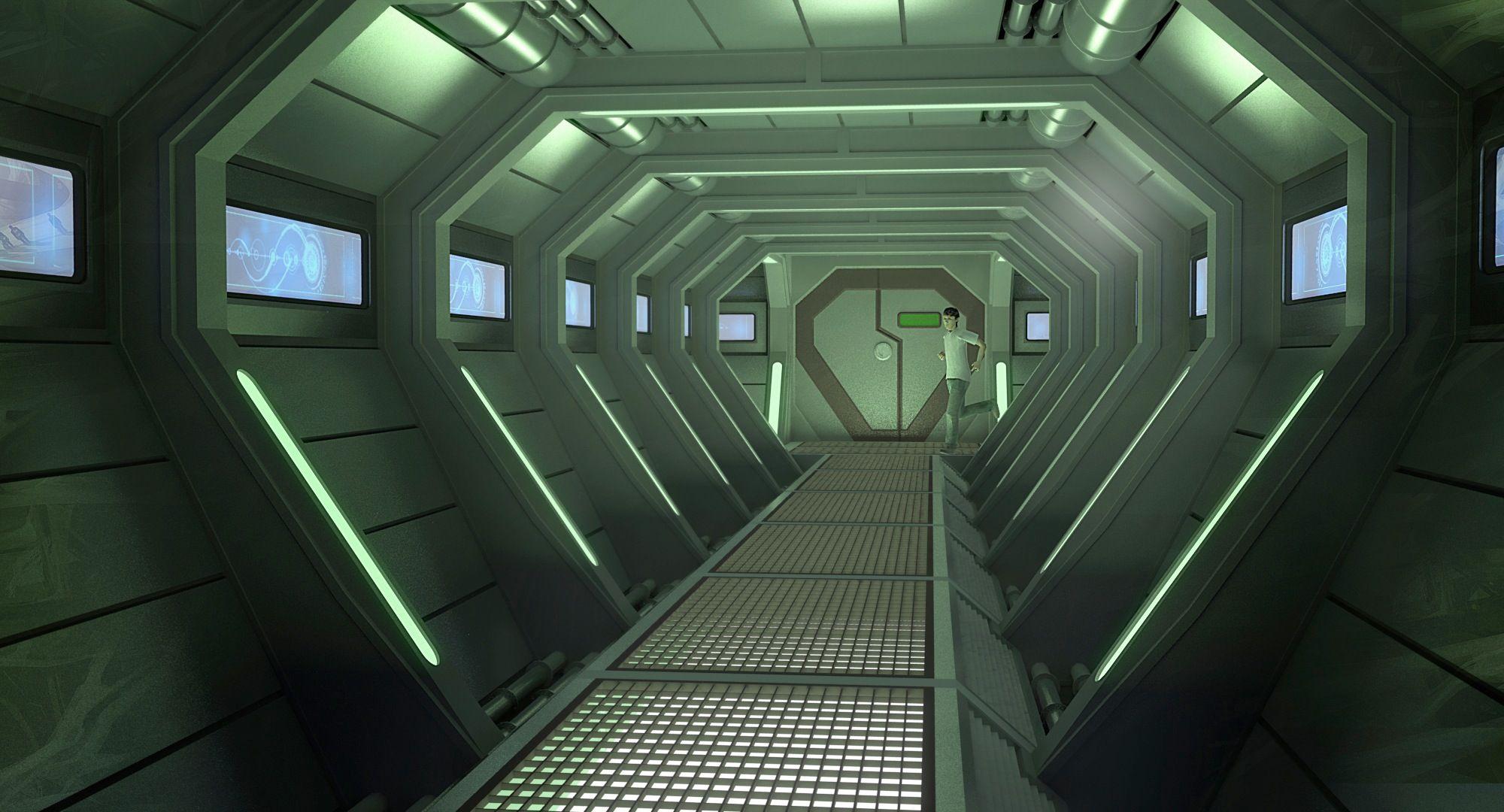 alien inside ship - HD2000×1080