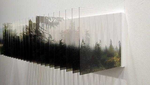 Nobuhiro nakanishi laser print mounted with plexiglass for Layer 7 architecture