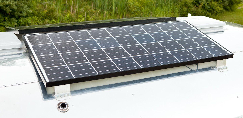 Solar Panels Atop Vintage Airstream Solar Panels Solar Panels