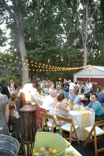 """Yougn House Love's wedding! This is where my obsession with this blog started after I googled """"backyard wedding"""" I love all their ideas!"""