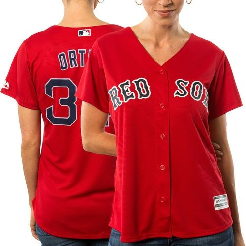 factory authentic 8f17b 93676 Women's Majestic David Ortiz Boston Red Sox Scarlet Official ...