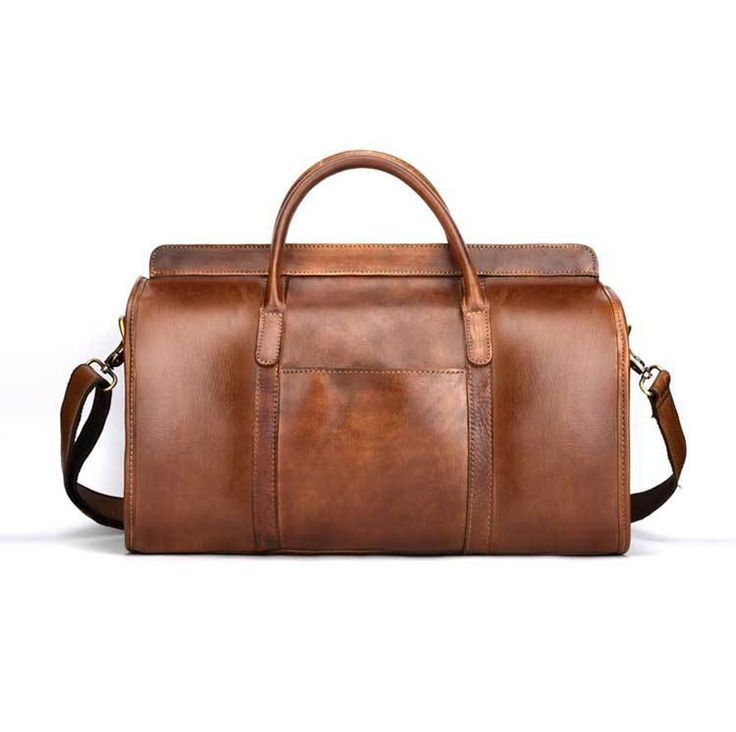 Genuine Leather Travel Bag Men Large Carry On Luggage  Travel Bag Men Leather Duffle Bag Wee