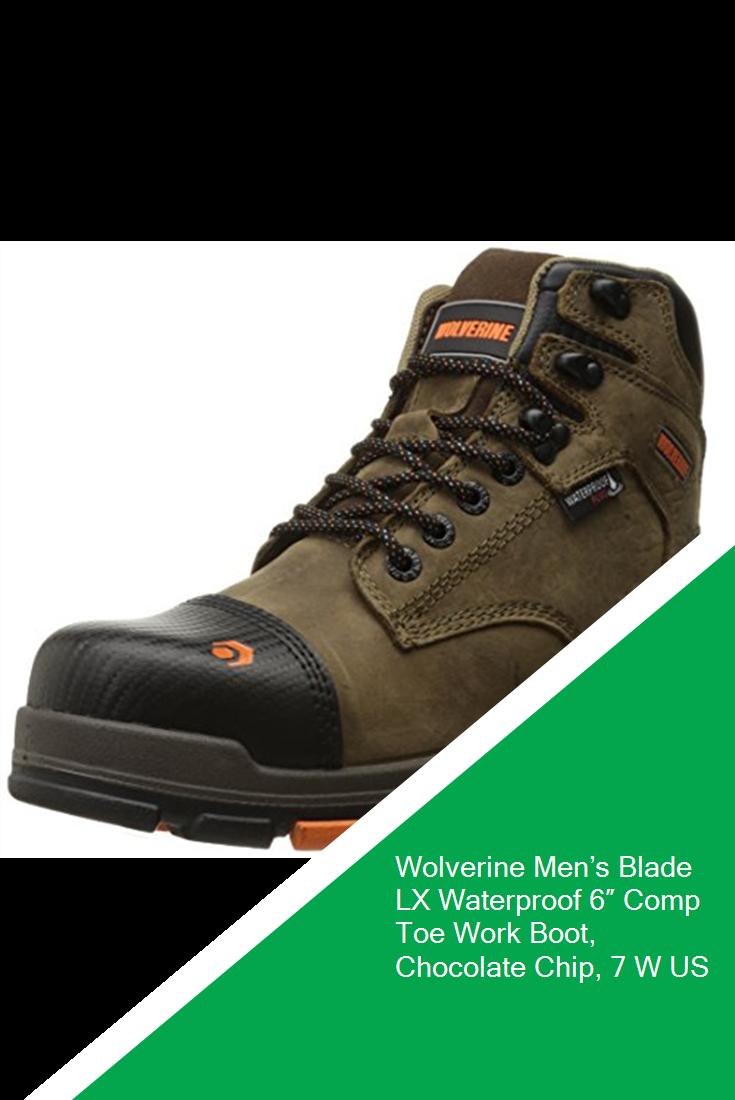 8cd9ab4029c Wolverine Men's Blade LX Waterproof 6″ Comp Toe Work Boot, Chocolate ...