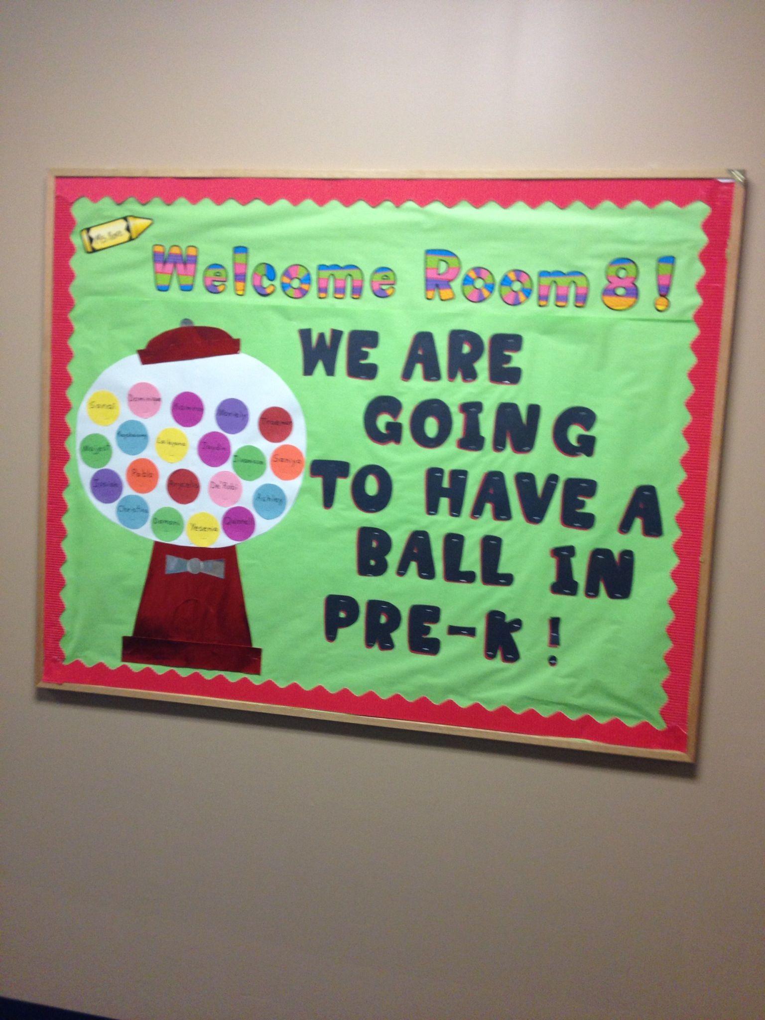 My Welcome Back Bulletin Board Preschool Art Projects Preschool