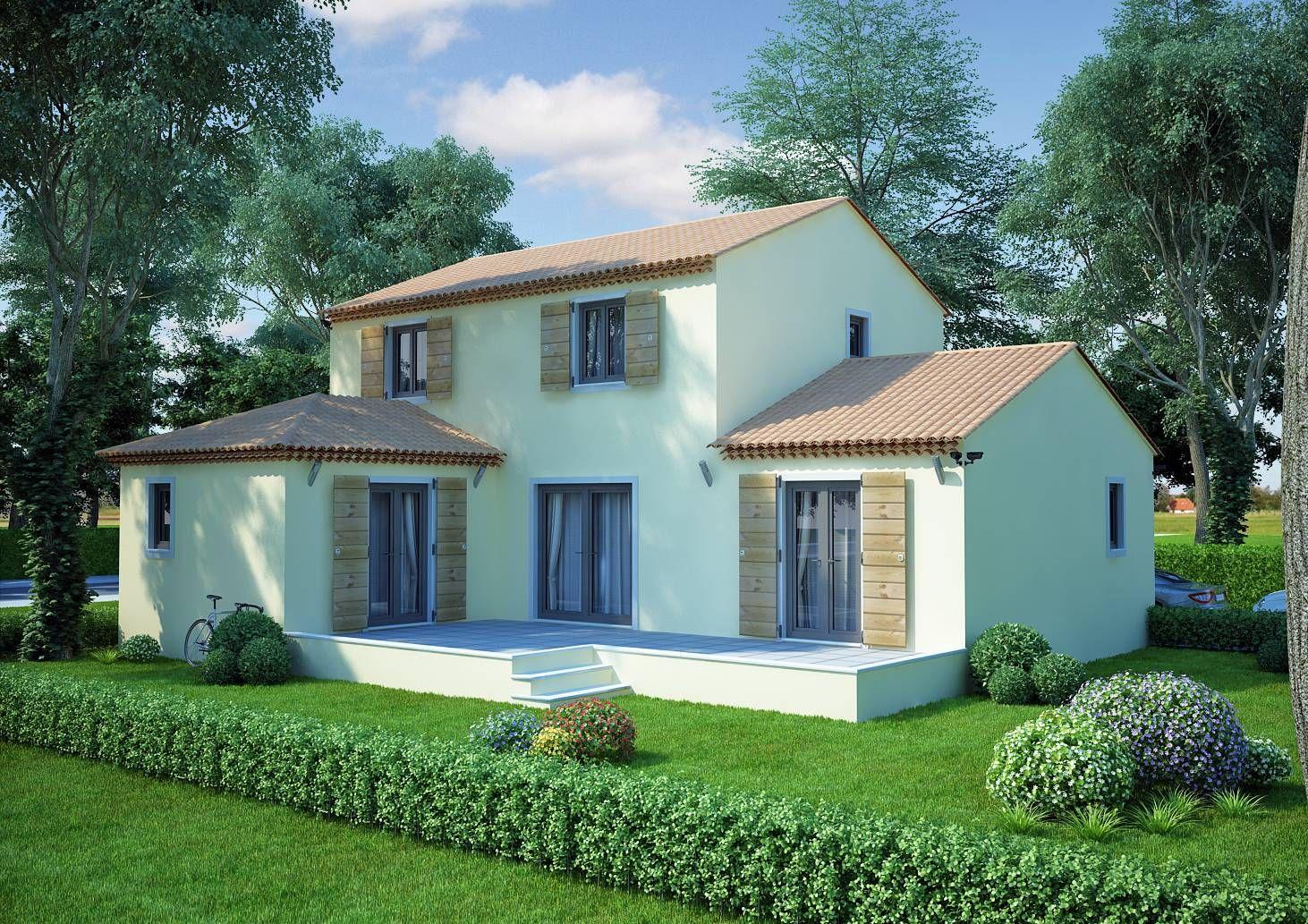 villa dite en l tage de 130m au rdc entr e avec porche donnant sur un grand s jour salon. Black Bedroom Furniture Sets. Home Design Ideas