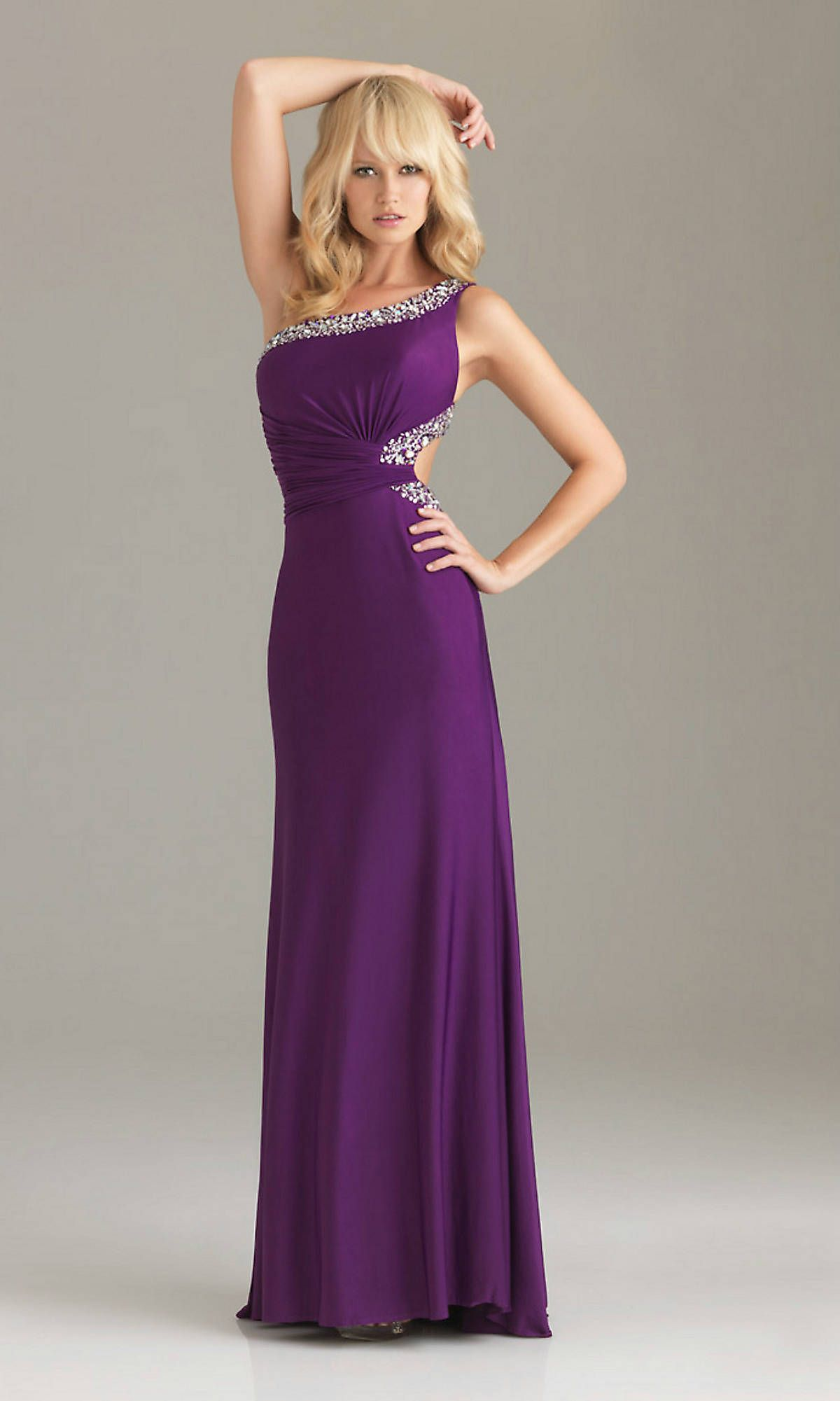 Short Purple Prom Dresses 2013