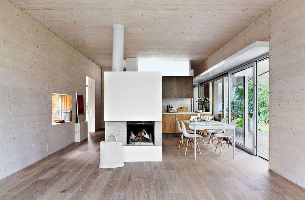 Holz-Lehm-Haus - Michael Fink Loft Pinterest Lehm, Holz und - gemutliche holzverkleidung innen