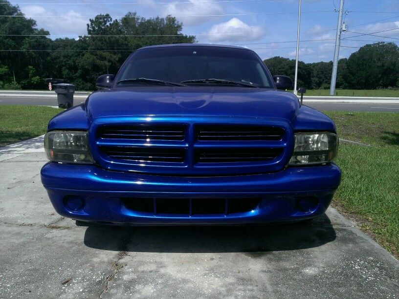 Lowered And Painted Daytona Blue Pearl Dodge Dakota Dodge Trucks Blue Pearl
