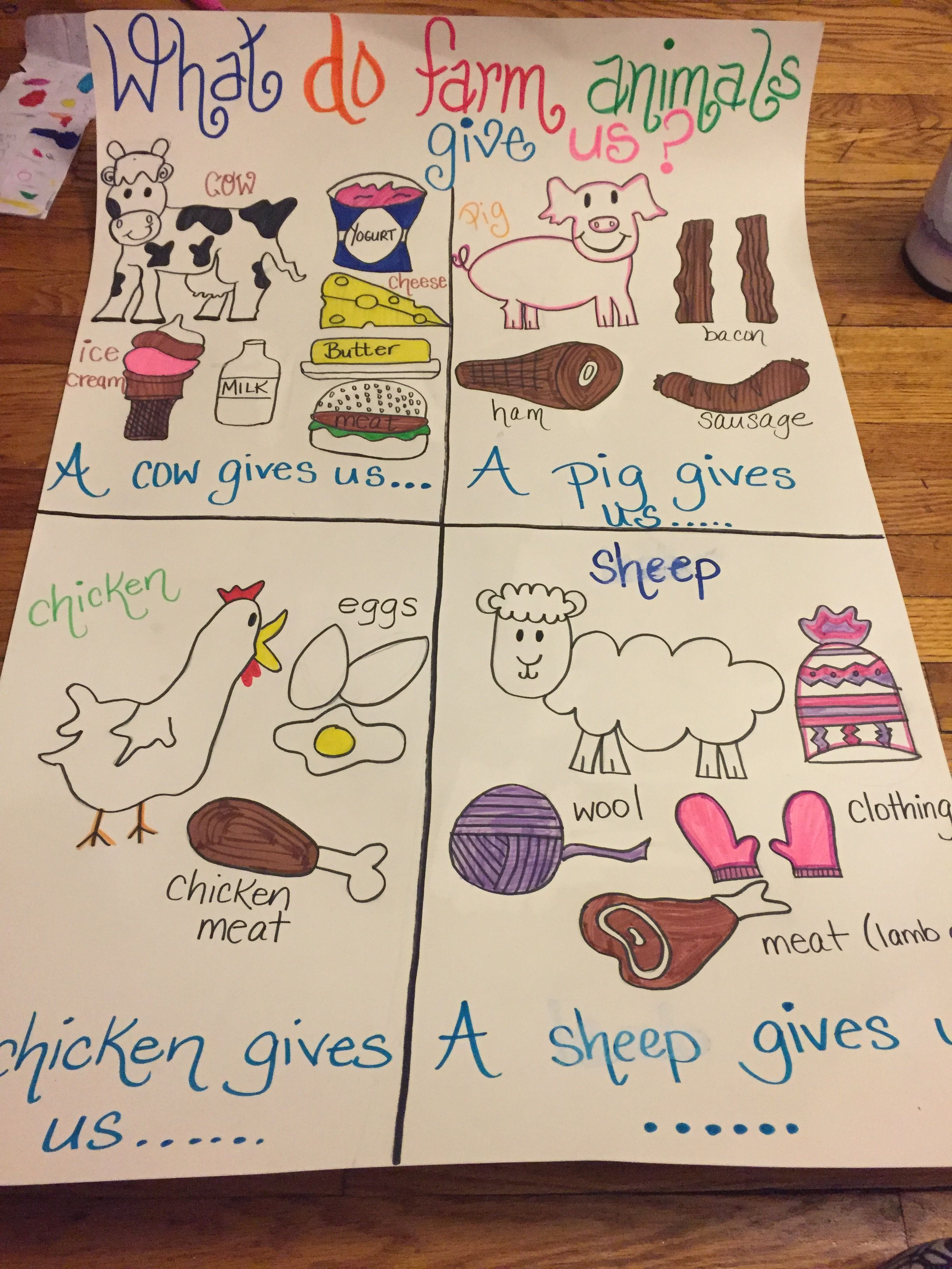 As a part of the NYS kindergarten CKLA Farm unit, I made