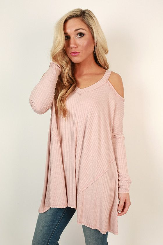 Spring Blossoms Top in Blush