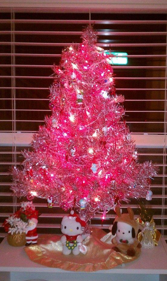 My mini pink Hello Kitty Christmas tree yay Target mini