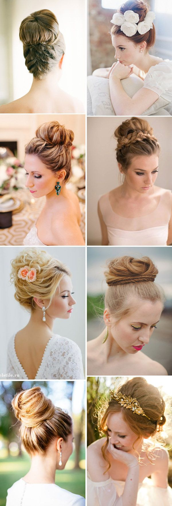 chic high updo wedding hairstyle ideas for brides high updo