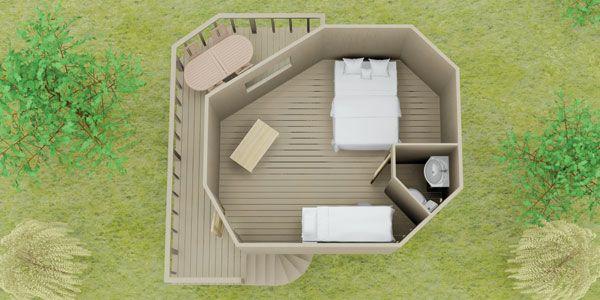 Tree House Single Pod Floorplan