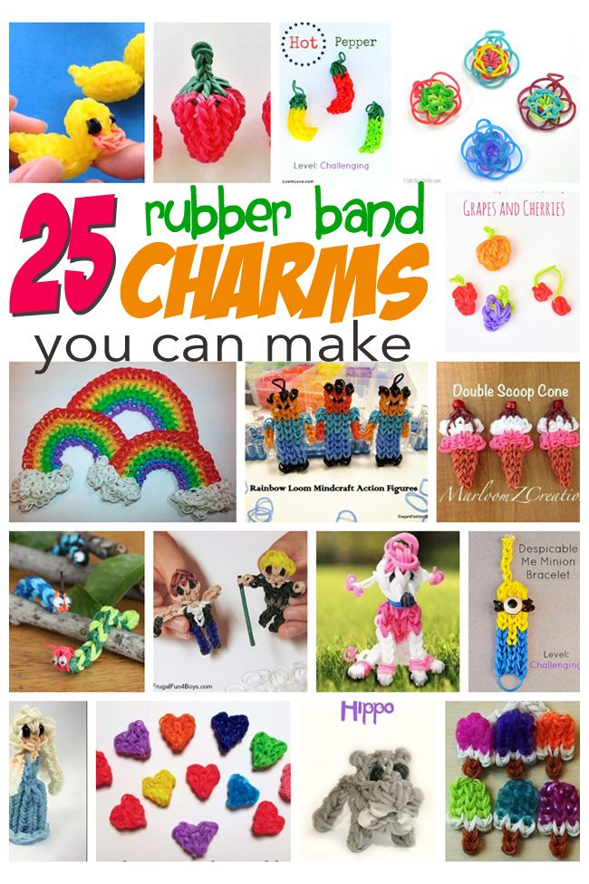 25 awesome rubber band charms you can make kids play time rh pinterest com