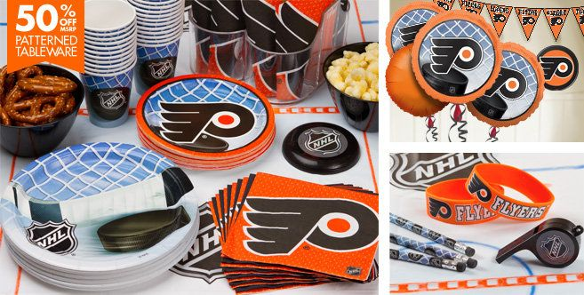 philadelphia flyers party supplies favors decorations party city