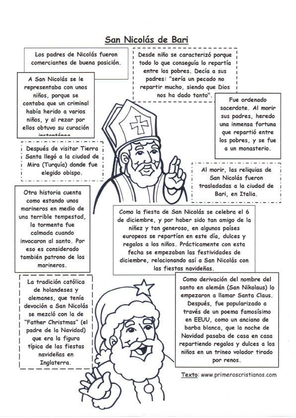 El Rincón de las Melli: Breve historia de San Nicolás o Papá Noel ...