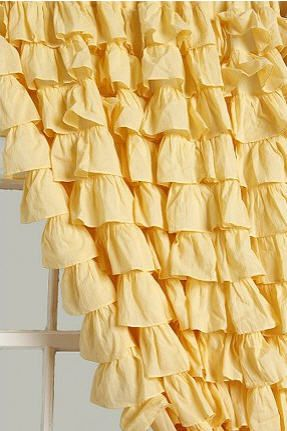 Love This Yellow Ruffle Curtain Guest, Yellow Ruffle Curtains