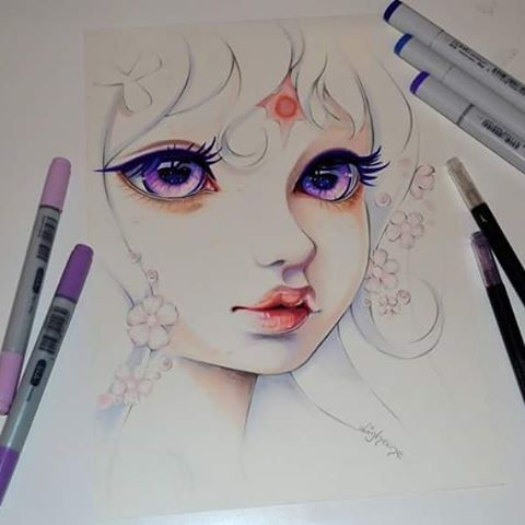 What a lovely commisson! Lady Amalthea from The Last Unicorn <3 I watched it again only recently and it was so moving. However, I wish they made a new version of it with same soundtrack and everything, but maybe even 3D animated? :) <3 #cute #kawaii #lady #amalthea #ladyamalthea #unicorn #horse #portrait #manga #anime #cartoon #girl #natura #woman #forest #flower