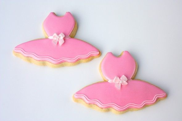 tutu cookies! Perfect for ballerina theme birthday party