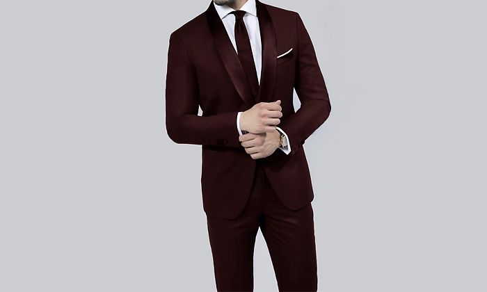 9acf9e00bfc1c1 Braveman Runway 2-Piece Slim-Fit Tuxedo with Free Bow Tie in 2019 ...