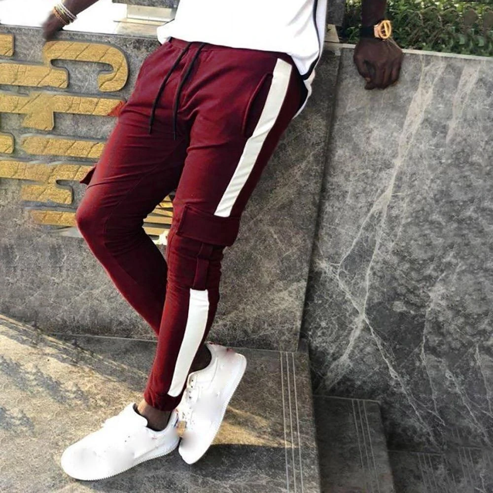 Men Patchwork Casual Drawstring Sweatpants Agodeal Sweatpants Denim Shorts Lace Tops H M Outfits In 2020 Mens Street Style Fashion Joggers Stylish Mens Outfits