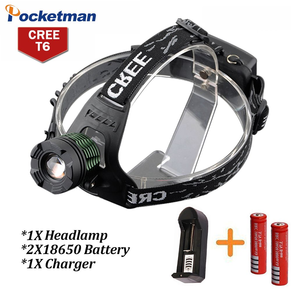 3800lumen Cree Xm L T6 Led Headlamp Headlight Camping Hunting Head Light Lamp 3 Modes 2 18650 Battery Charger Portable Light Led Headlamp Headlamp