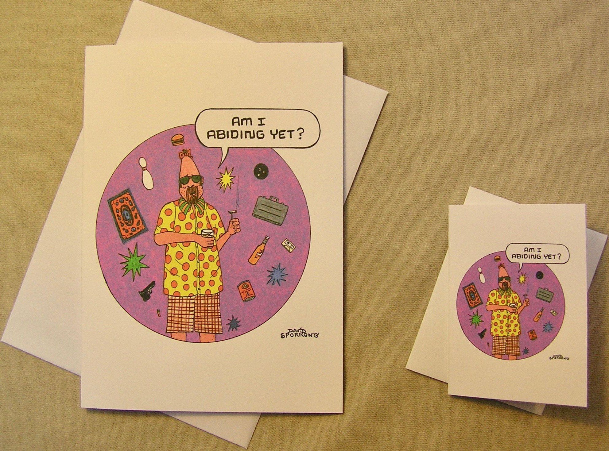 Big Lebowski All Occasion Greeting Card Dude The Pinhead Regular