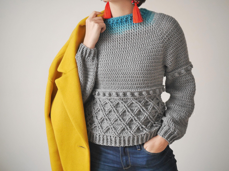 a178cb84c15d Vestiti Eleganti Da Uomo · Tenda · Crochet Sweater Pattern PDF Adoro  Sweater crochet crew