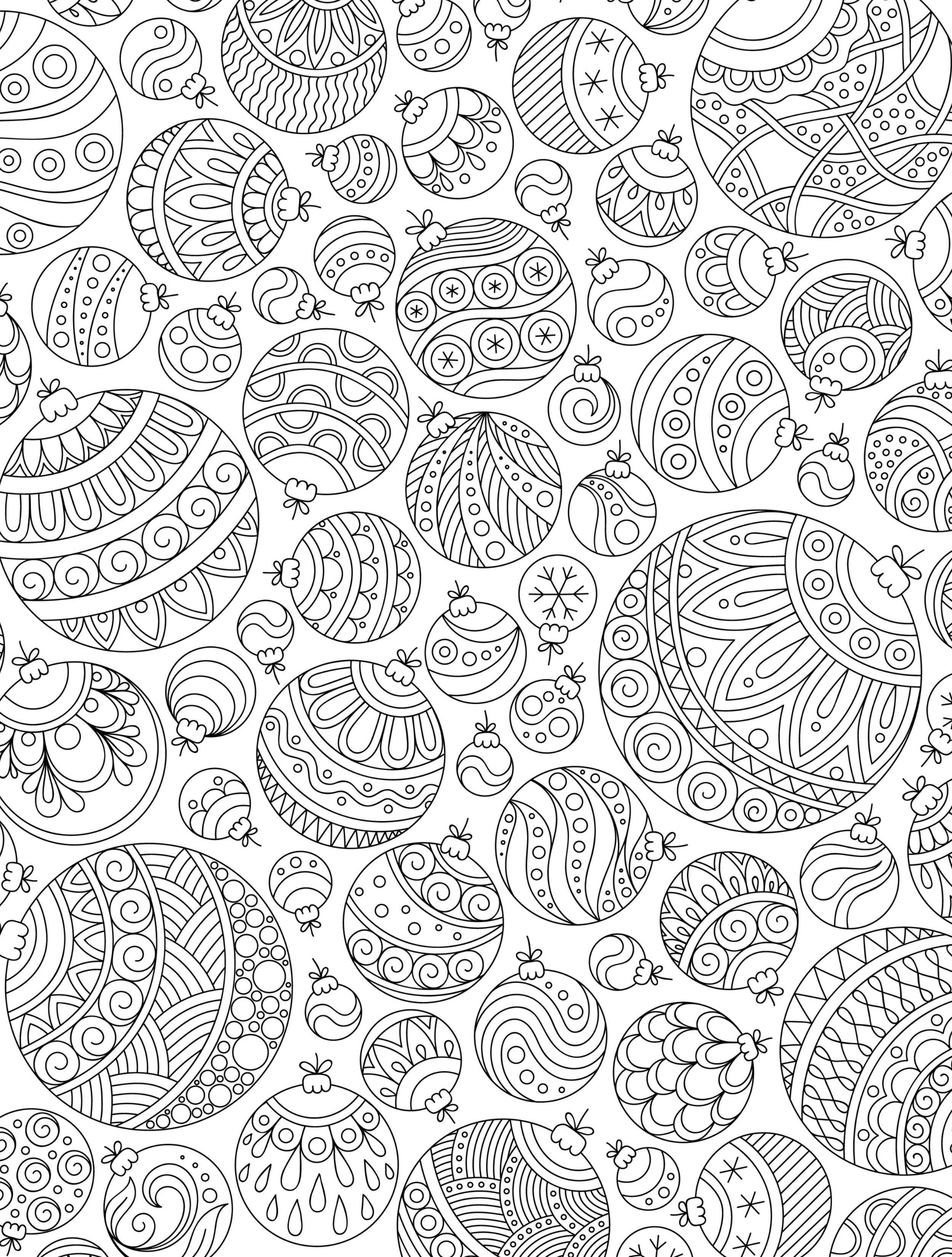 15 CRAZY Busy Coloring Pages for Adults Christmas