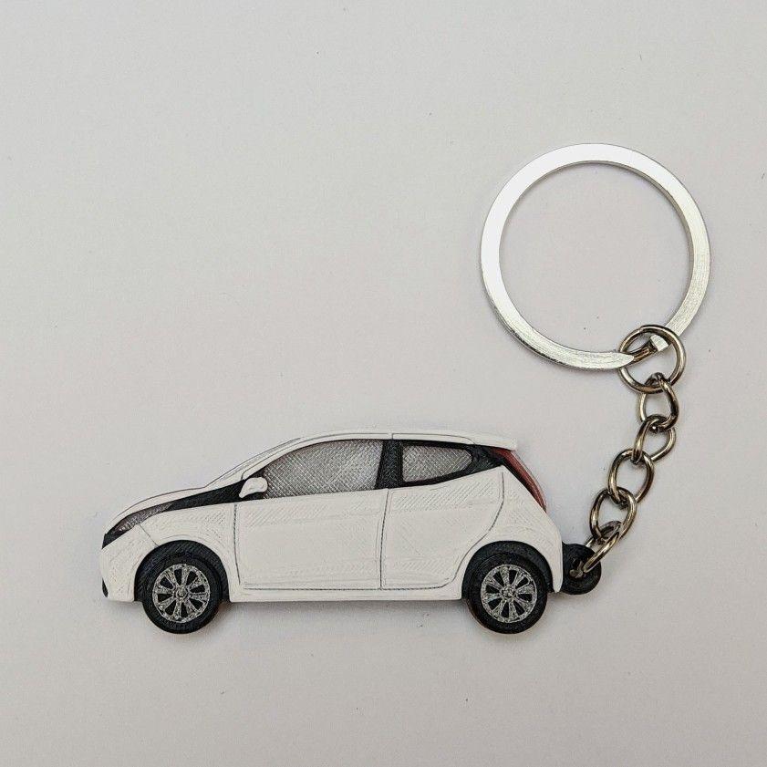 Custom Car Keyring In 2020 Custom Cars Toyota Aygo Car