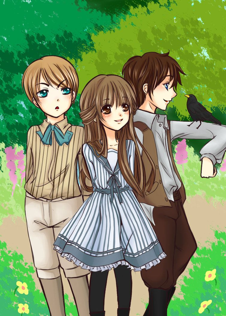secret garden colin and mary | Colin Mary and Dickon by hitori-no-yoru on deviantART