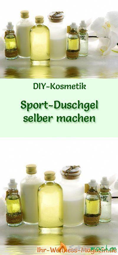 SportDuschgel selber machen Rezept und Anleitung
