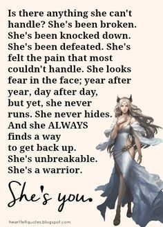 Heartfelt  Love And Life Quotes: She is you.