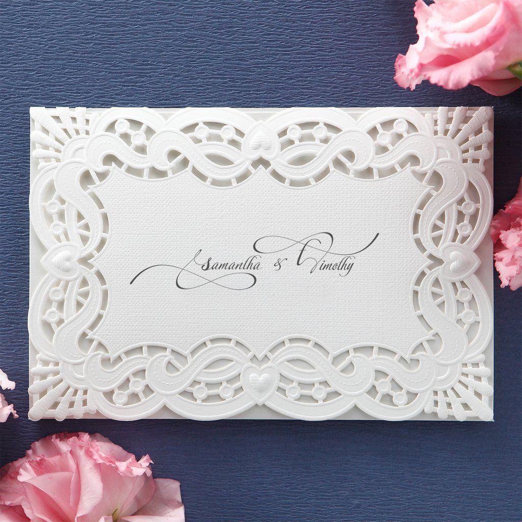 Monogram initial Laser Cut Wedding Invitations – BH 5134 ...