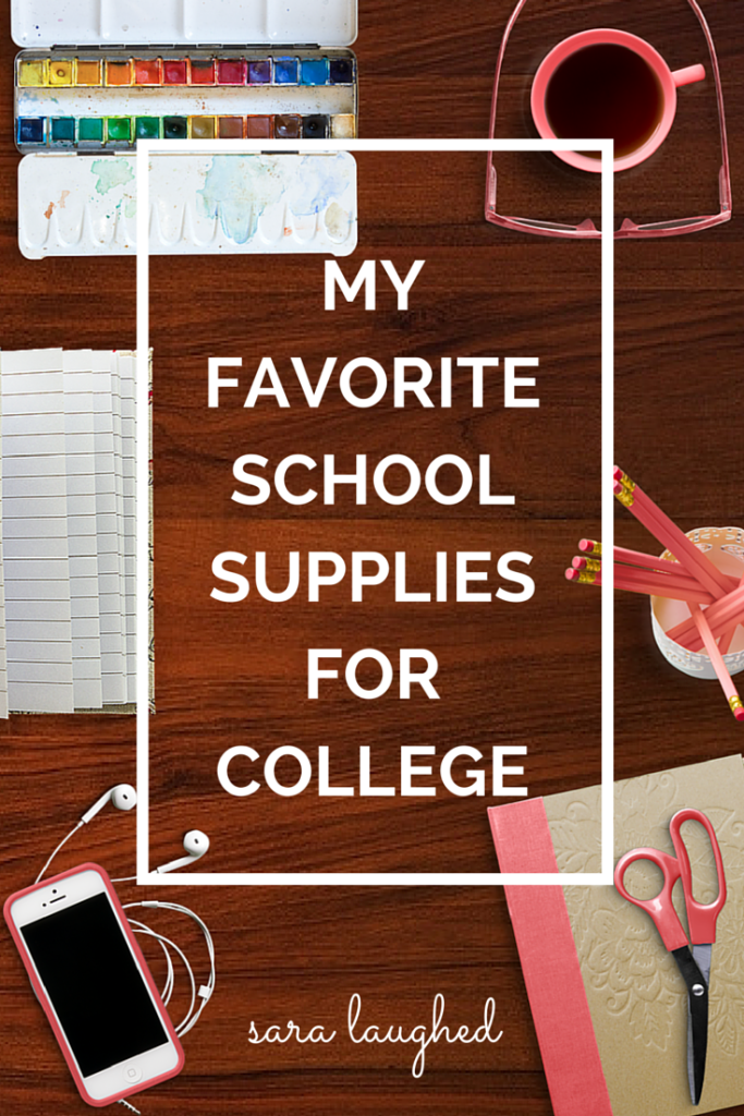 My Favorite School Supplies For College  College Alternative And