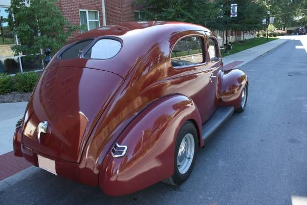 For Sale 1940 Ford 2 Door Sedan Custom Street Rod New Merlot Paint New Carb Edelbrock Buick 350 With Automatic Turbo 350 Tran Sedan Ford Hot Rods Cars