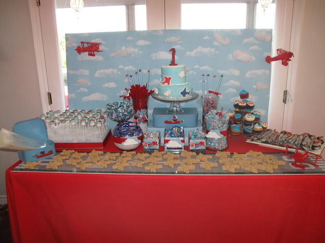 Airplane 1st Birthday Birthday Party Ideas Airplane party Dessert