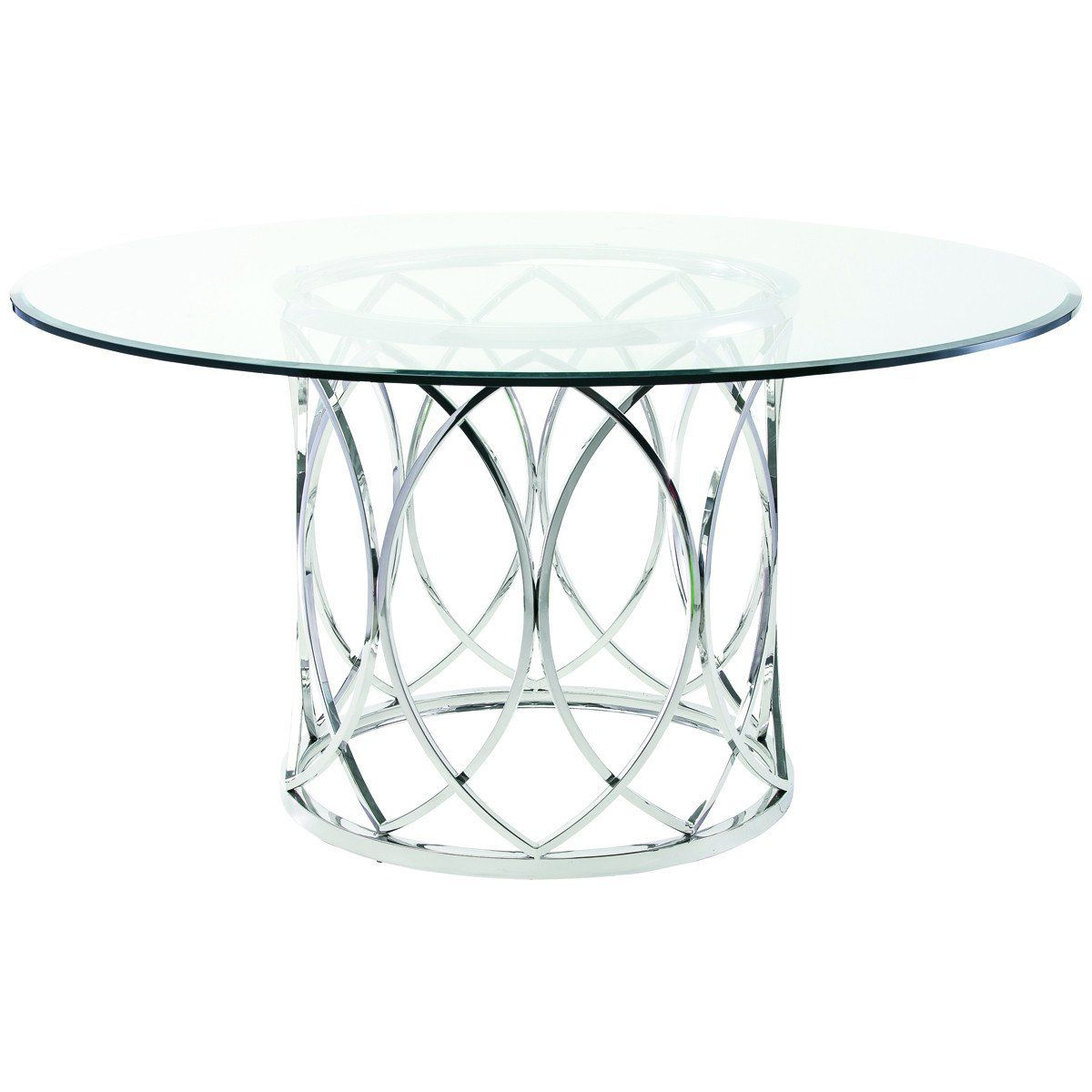 Nuevo Living Juliette Dining Table Glass Dining Table Circular