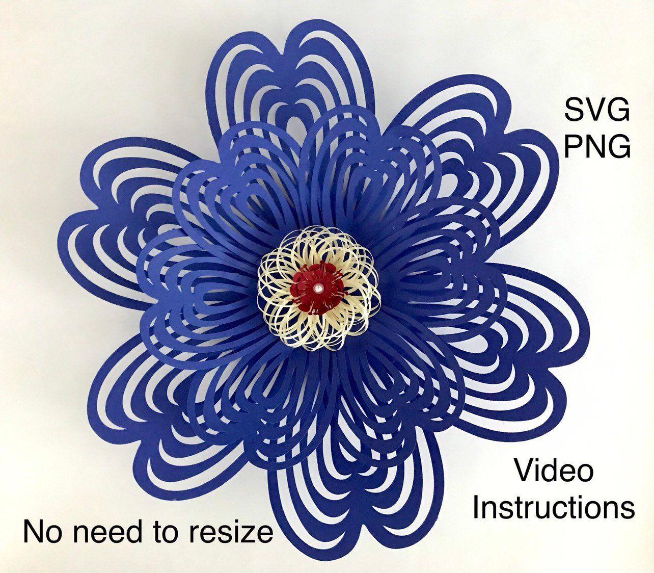 Paper Flower Template Svg Flower Template Paper Flower Cricut