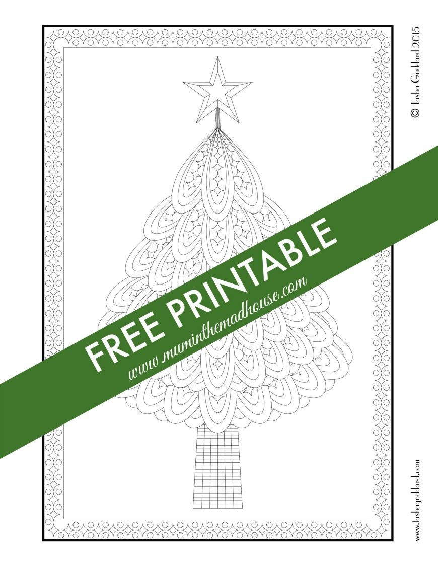 Free Christmas Colouring Pages for Adults and Teens | Fun for me ...
