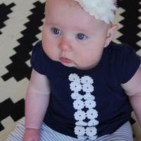 Shabby Flower Headband - Creme  Www.tatertotshoppe.storenvy.com