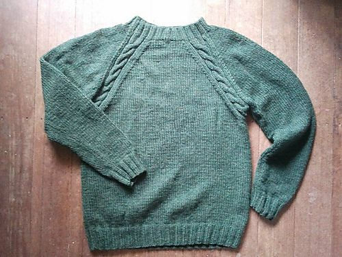 Pullover Raglan With Simple Cables Free Knit And Crochet